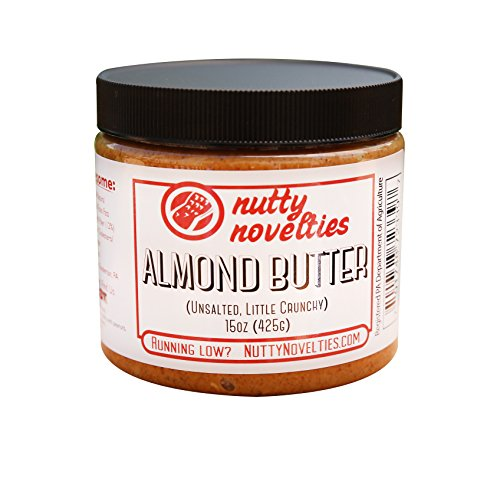 Nutty Novelties Classic Almond Butter - High Protein, Sweet Almond Butter - No Added Sugar - All-Natural, Pure Almond Butter Free of Cholesterol & Preservatives - Vegan Almond Butter - 15 Ounces -
