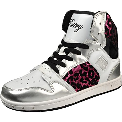 Pastry Women's Glam Pie Foil White/Pink Cheetah Fashion Sneakers