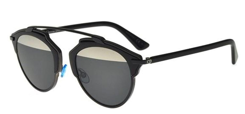 Amazon.com  New Christian Dior SO REAL B0Y MD black grey silver mirror  Sunglasses  Clothing 221e6ea2d2