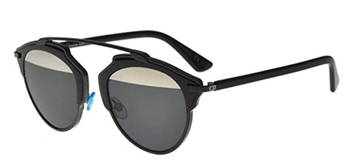 18358dcd38 Image Unavailable. Image not available for. Color  New Christian Dior SO  REAL B0Y MD black grey silver mirror Sunglasses