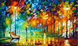 Beauty of the Park is a Limited Edition print from the Edition of 400. The artwork is a hand-embellished, signed and numbered Giclee on Unstretched Canvas by Leonid Afremov. This piece is a fantastic example of Leonid's signature work where we find o...