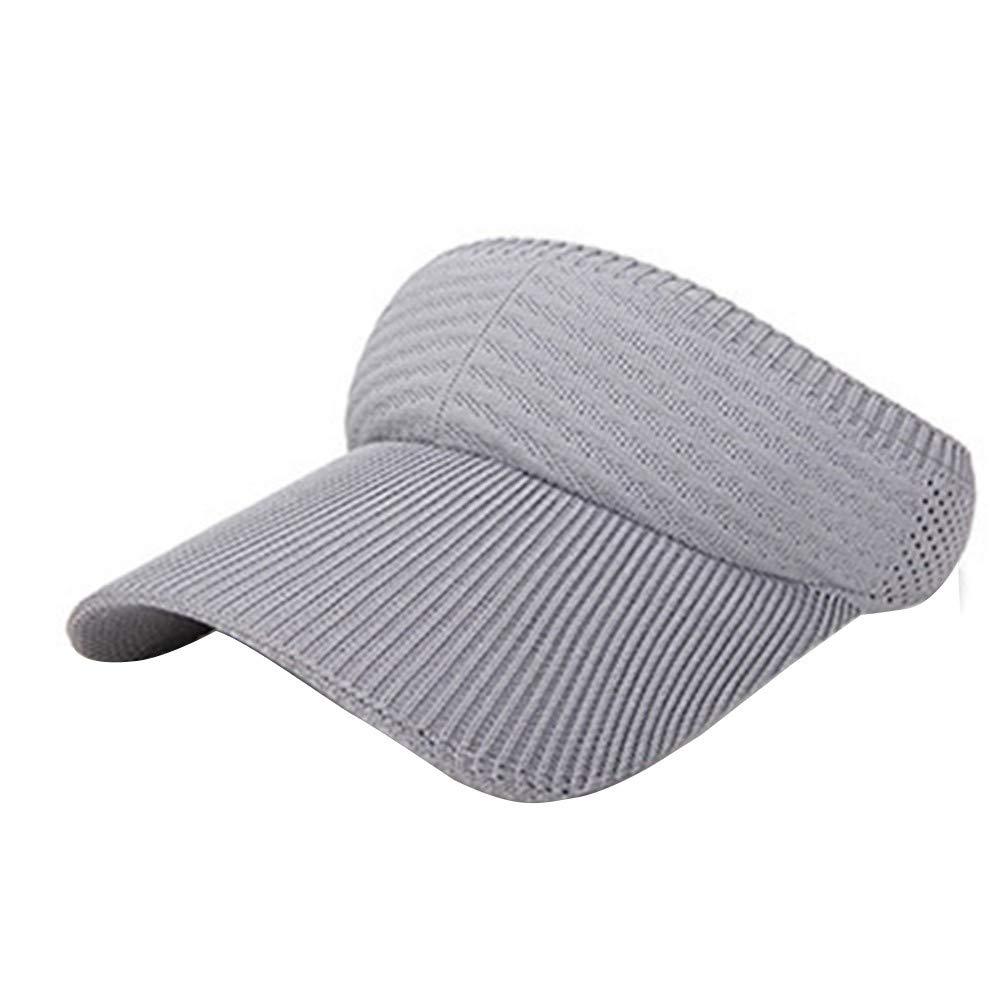 Sun Visor Hat for Women Men, Tuscom Sport Sun Visor One Size Adjustable Cap Plain Baseball Cap Summer UV Protection Beach Cap Golf Hat for Outdoor Sports Jogging Running Tennis by Tuscom@