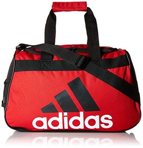 UPC 716106731402, adidas Diablo Small Duffel Bag, Scarlet/Black/White, 11 x 18.5 x 10-Inch
