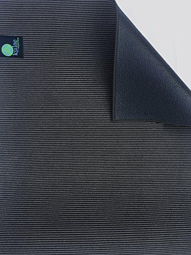 Kulae The Elite Hot Hybrid Yoga Mat (Onyx/Black, 4-mm x 72 x (Mat Onyx)