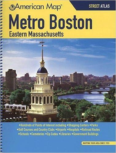 American Map Metro Boston Eastern Massachusetts: Street Atlas