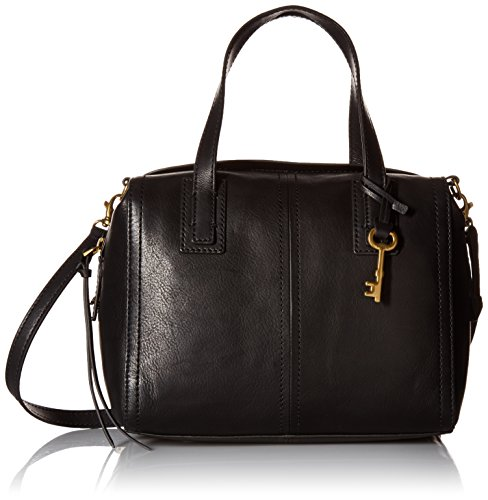 Fossil Emma Satchel, Black by Fossil