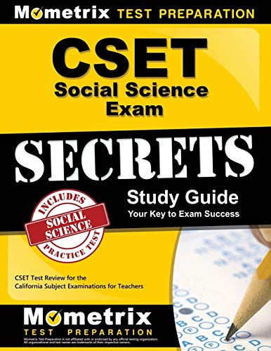 CSET Social Science Exam Secrets Study Guide: CSET Test Review for the California Subject Examinations for Teachers (Mometrix Secrets Study Guides)