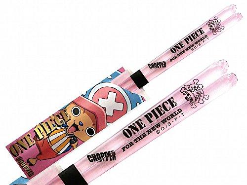 (Anime One Piece (ONE Peice) Pirate Flag Chopper Clear Chopsticks Light Pink 490501)