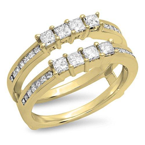 0 90 carat ctw 10k gold princess cut white