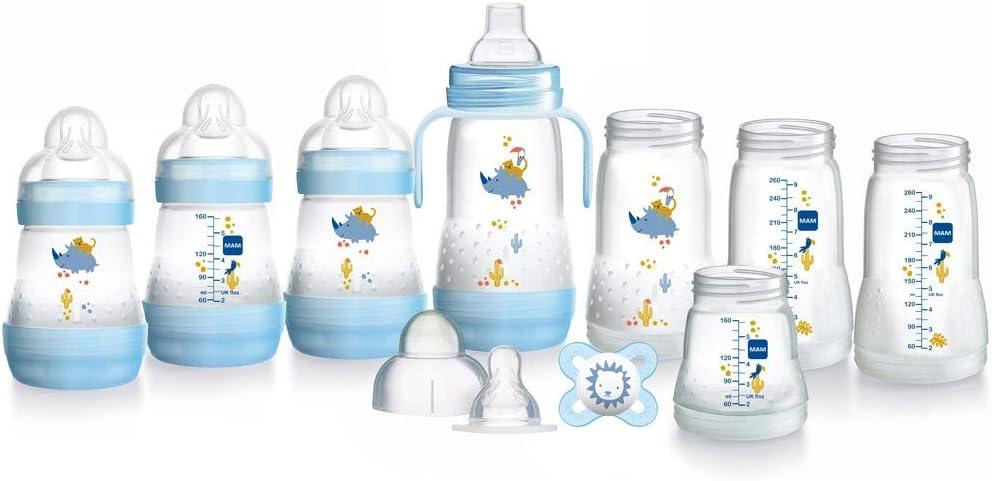 MAM BABY Feed Soothe 6 pièces bouteille de lait mannequin Sucettes Set auto de stérilisation 0+