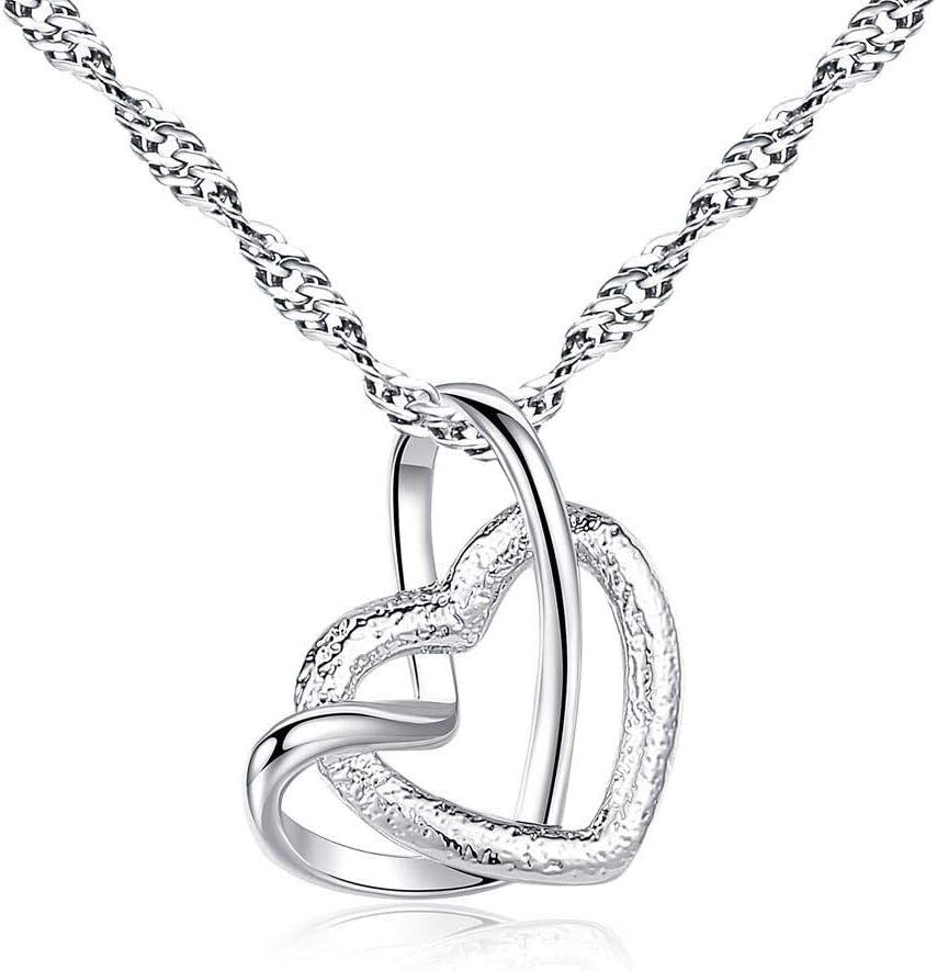 Collar Collar con Forma De Corazón Collar De La Mujer Colgante con Forma De Corazón De Las Mujeres Collar con Forma De Corazón Pulido Mate