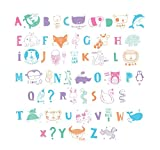 Ai-life 62Pcs Cinema Sign Cards for A4 Cinematic Light Up Boxes, Decorative Coloured Animal Symbols Glyphs Card for Use with A4 Cinematic Light Boxes, Light Up Your Life