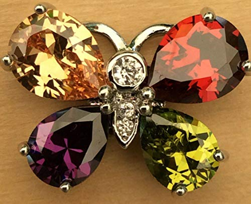 Snap.Chunk Button 20mm Colorful Butterfly Charm for Ginger Snap Style Jewelry SE-455