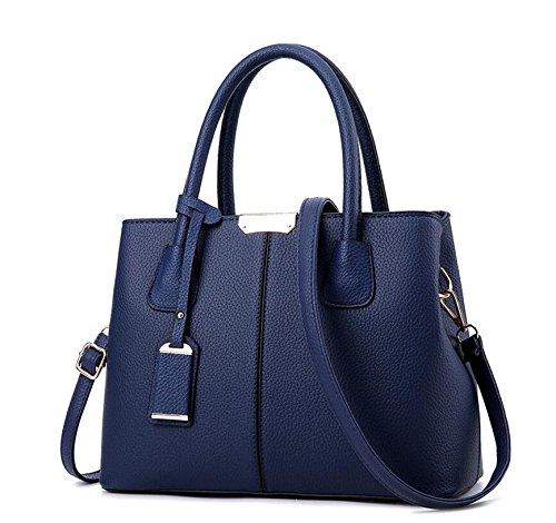 Star Lb24 Rosa Casual Lether Hombro Ladies Handbags Vogue Bolso Mujeres Capacity Aassddff Pu Solid Big Top Casual Tote Crossbody Azul Bolsas Hvxwq5zPzU