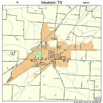 Amazon.com: Large Street & Road Map of Newbern, Tennessee TN ...