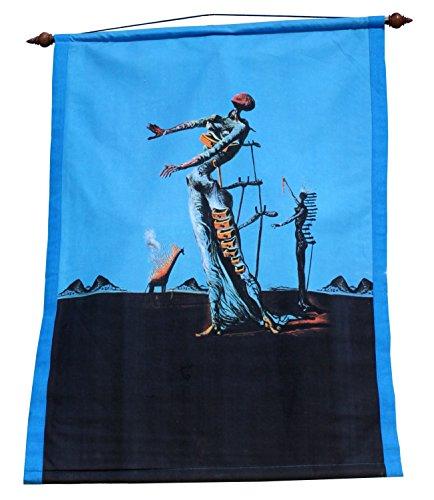 (RaanPahMuang Brand Wall Hanging Tapestry Print of Famous Works of Art, Salvador Dali - The Burning Giraffe)