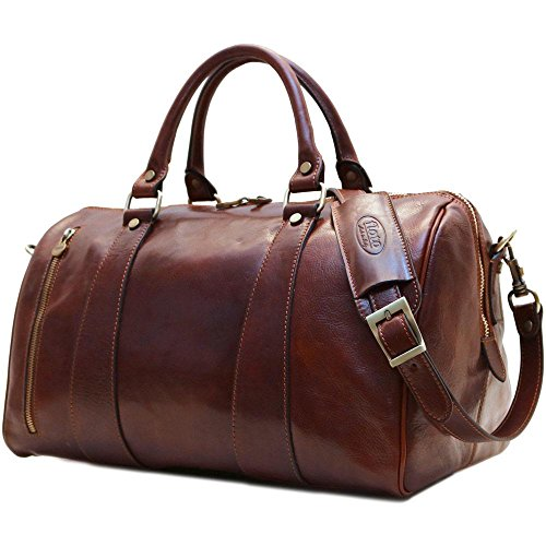 Super Tuscan Leather Duffle Travel Bag Model #2 by Floto