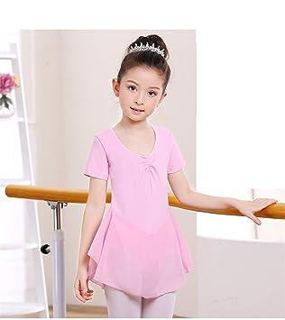 Hoverwin - Ballet Dresse Fille Justaucorps Robe de Danse Classique Gym Jupe  Robe Princesse Manches Courtes 838ad4edd41