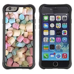 LASTONE PHONE CASE / Suave Silicona Caso Carcasa de Caucho Funda para Apple Iphone 6 / marshmallow sweets candy pastel color