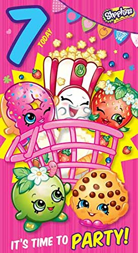 Amazon Shopkins Age 7 Today 7th Birthday Card Toys Games