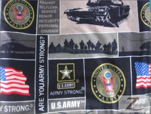 MILITARY PRINT POLAR FLEECE FABRIC - U.S. Army - 60