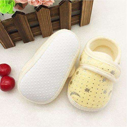 Zhhlinyuan Cute Bebé Infant Boys Girls Soft Anti-skid Toddler Shoes Crib Shoes Yellow