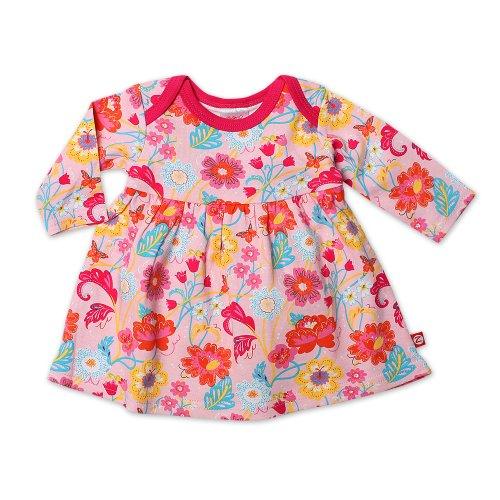 (Zutano Baby-Girls Secret Garden Long Sleeve Dress, Pink, Newborn)