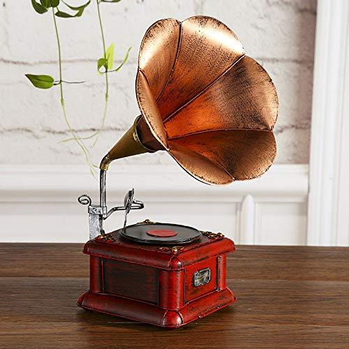 Doinbtoy Gramófono Vintage Modelo Tocadiscos Modelo Retro hogar ...