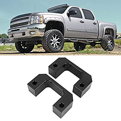 Qiilu 2.5in Leveling Lift Kit Black for Chevrolet Silverado & GMC Sierra & Yukon & Tahoe & Suburban 1500 2WD/4WD 2007-2020, for Chevy Avalanche 2WD/4WD 2007-2013: Automotive