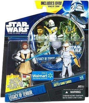 Star Wars Clone Wars DVD Set 'Legacy of Terror' Obi Wan Kenobi & Clone Trooper