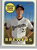 #10: 2018 Topps Heritage High Number Baseball #720 Christian Yelich SP Milwaukee Brewers Official MLB Trading Card