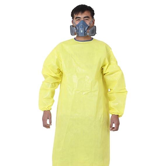 HZTWS Delantal siamés Traje de protección química Anti-ácido ...