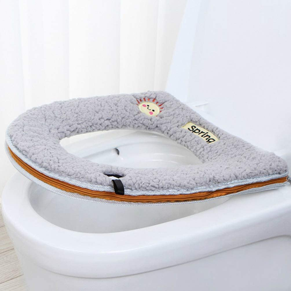 Green Exceart Toilet Seat Cover Comfortable Washable Travel Potty Seat Soft Cushion Toilet Seat Pad Toddler for Child Adults