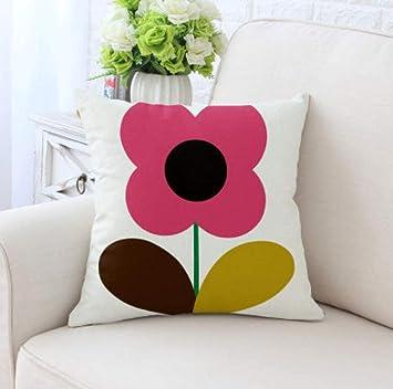 Almohada de sofa Patrón de flores Funda de cojín Fundas de ...