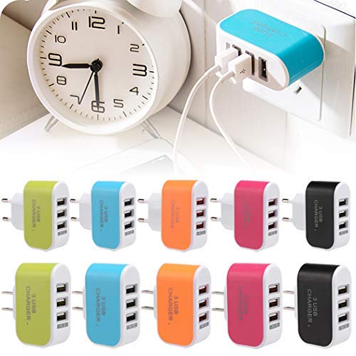 USB Charger Cube,Wall Charger Plug,3-Port USB Wall Home Travel AC Charger Adapter for Phone US Plug