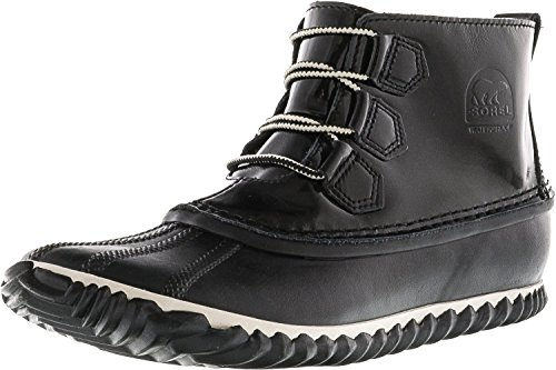 Women's N Leather Rain Black Noir Sorel Snow about Boot PqdwP45