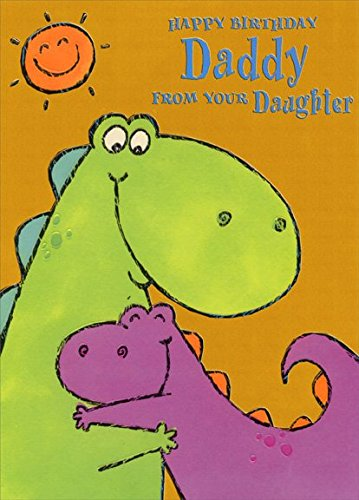 Amazon Purple And Green Dinosaur Hug Daddy From Daughter