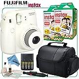 Fujifilm Instax Mini 8 Instant Film Camera (White) & eDigitalUSA Instax Bundle