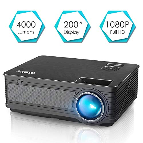 Projector, WiMiUS P18 4000 Lumens LED...