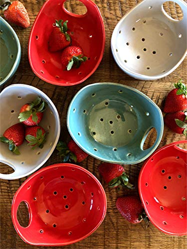 - Red Berry Colander Bowl