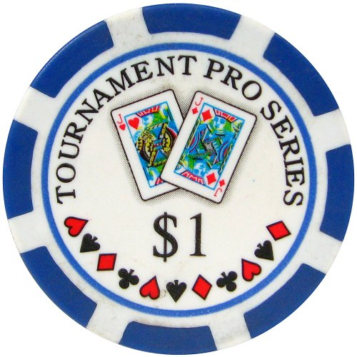 Trademark Poker Phil Hellmuth Junior Tournament Pro Series 1 Dollar Poker Chips (Set of 50), Blue