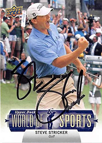 Steve Stricker autographed trading card (Golf Champion) 2011 Upper Deck World of Sports #282 Autographed Golf Cards