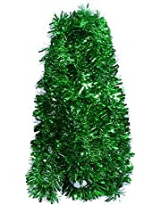 DECORA Tinsel Garland for Christmas Tree Decorations Wedding Birthday Party Supplies