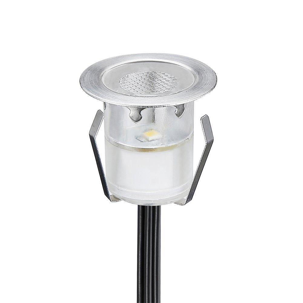 20er Set Bodeneinbaustrahler LED /Ø30mm Aussen Treppen Einbaustrahler 0.3W IP67 Wasserdicht Boden Lampe RGB Farbwechsel-LED Terrasse Licht K/üche Garten Einbauleuchten Poolbeleuchtung