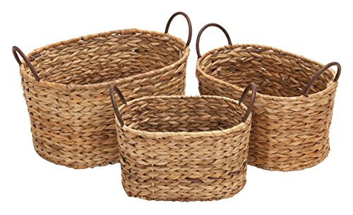 Deco 79 66545 Metal Wicker Basket S/3 16
