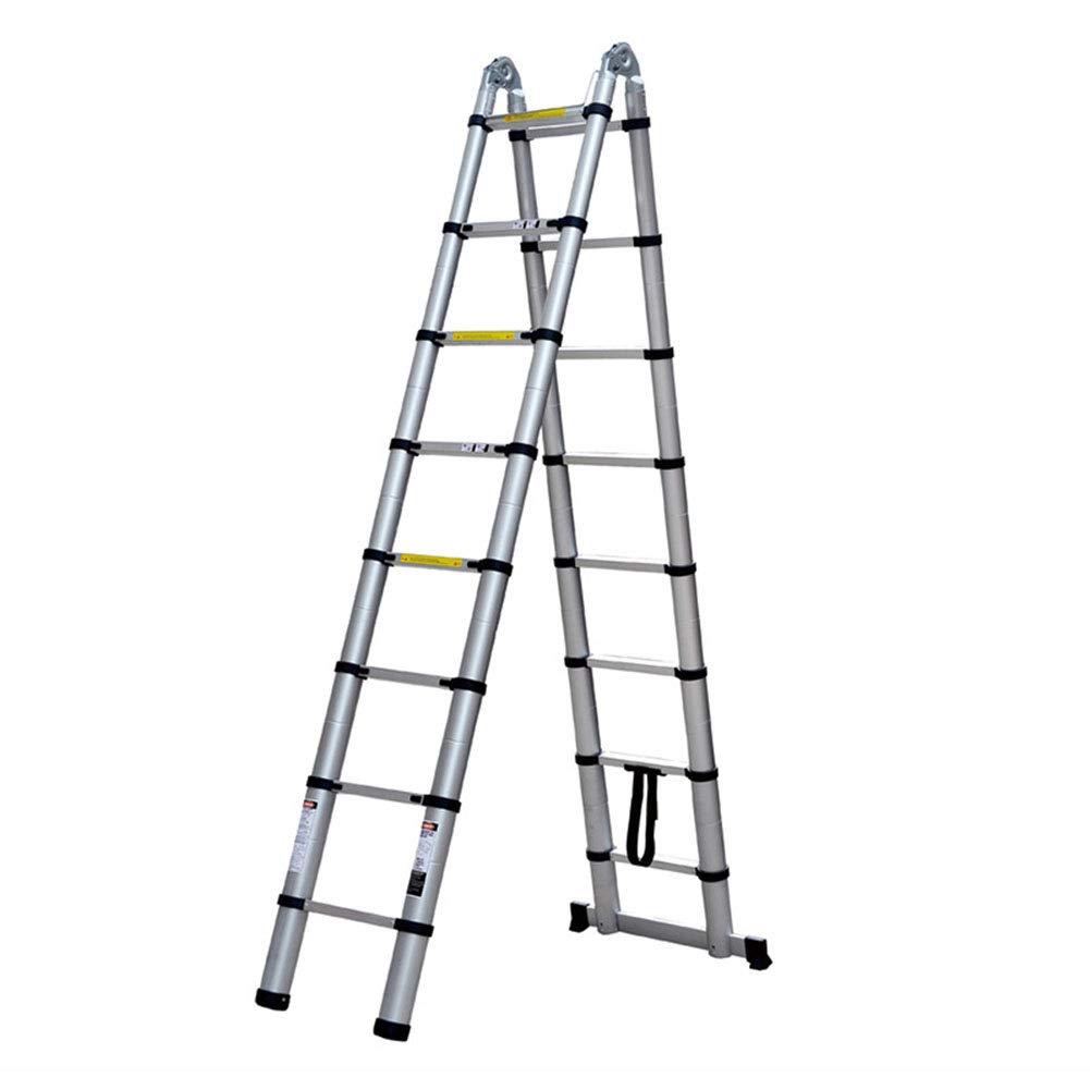 ZWYY Escalera de extensión telescópica de Aluminio, Escalera Multifuncional portátil Escalera compacta Antideslizante Escaleras Ligeras Extensibles Antideslizantes: Amazon.es: Jardín
