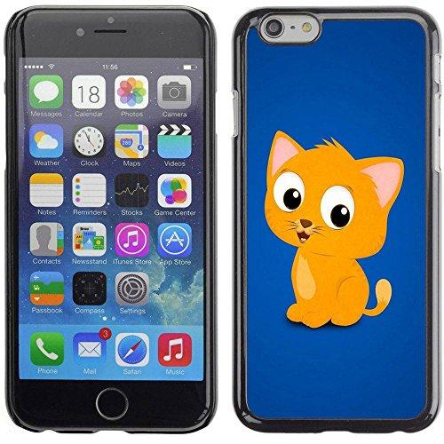 Paccase / Housse Coque Étui de protection pour - Cute Funny Kitten Yellow Pet Animal Cat - Apple Iphone 6 Plus 5.5