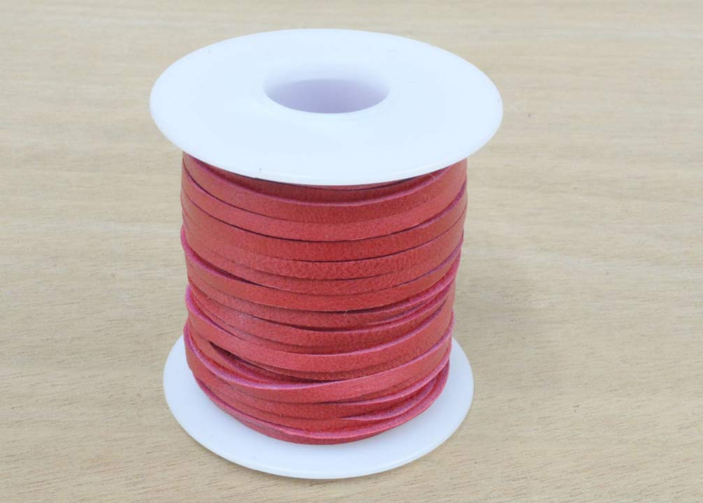 Deerskin Leather Lace Spool 1/8'' x 50 Ft Lacing 13 Colors Crafts Cord Jewelry, White