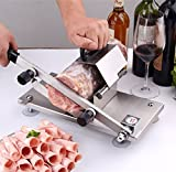 Unichart Manual Control with Spring&Automatic Sending Meat Device Premium Quality 1.4mm Thickness Stainless Steel Frozen Meat Silcer Cutting Beef Mutton Ham Roast Sheet Home Kitchen or Business Use