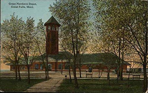 Great Northern Depot - Great Northern Depot Great Falls, Montana Original Vintage Postcard